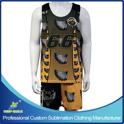 Sublimation Performance Cut Boy's Lacrosse Reversible Pinny with Short
