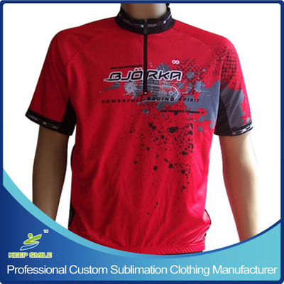 Customized Sublimation Printing Cycling Top with 1/4 Zipper