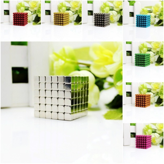 216 Pieces 5mm Magnetic Cube Building Blocks Magnet for Kids Educational Toy
