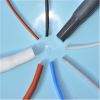 Silicone rubber heat-shrinkable tubes