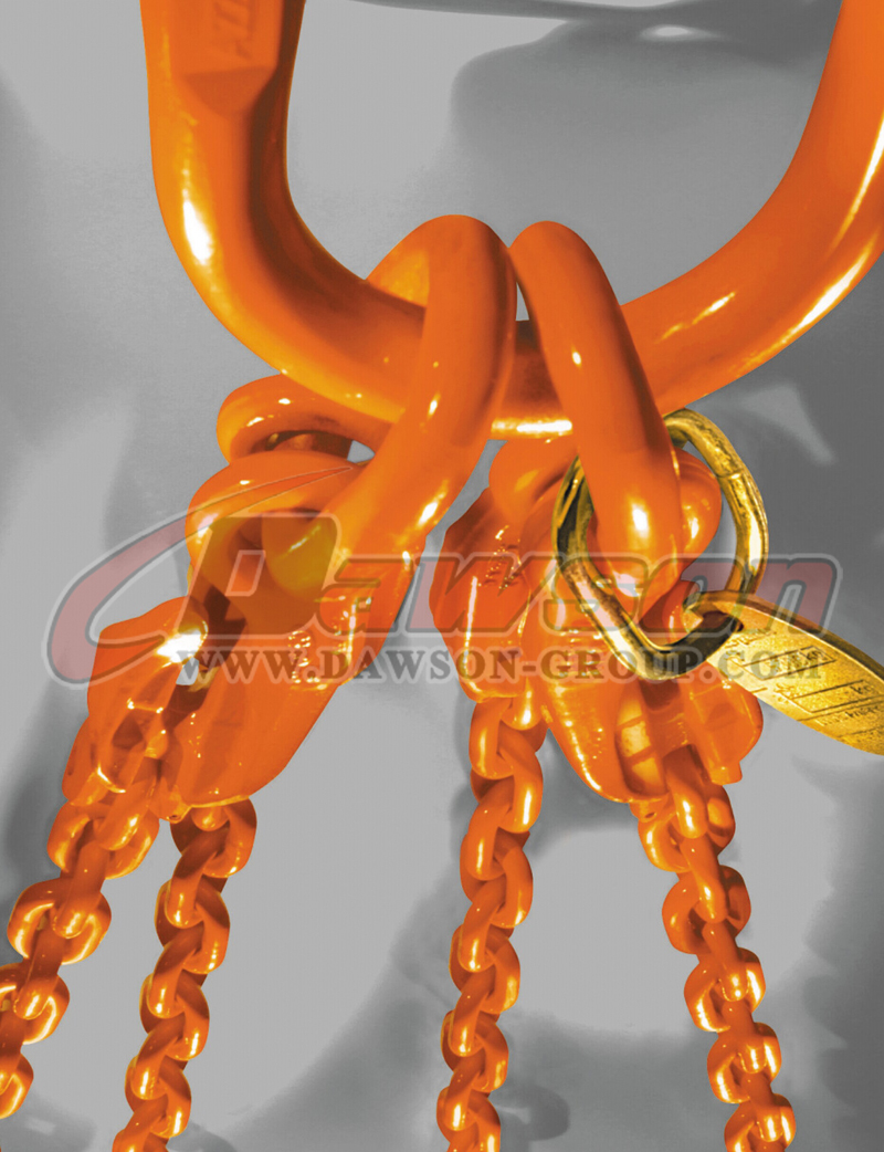 Application of G80 Forged European Type Master Link for Chain Lifting Slings / Wire Rope Lifting Slings