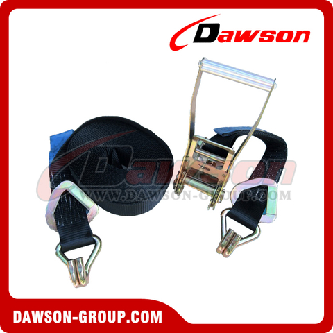5000kg x 9m Black Ratchet Tie Down Straps EN12195-2