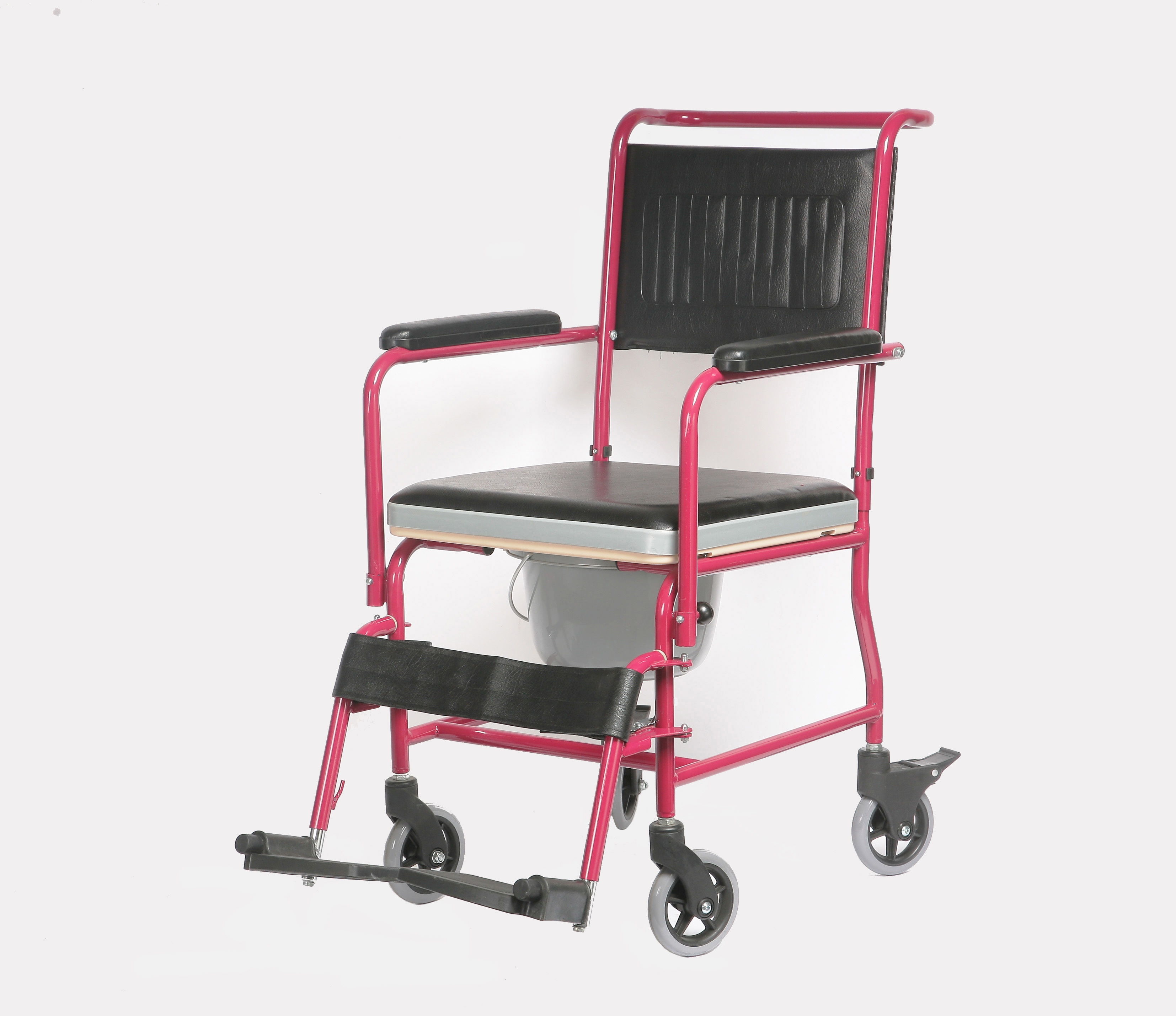 YJ-7100A Commode Steel Chair