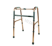YJ-6600C Standard walker Copper color, folds easily for transport or storage