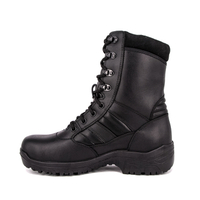Combat durable waterproof black tactical full leather boots 6234