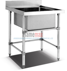 HSS-66 Stainless Steel European Style Single Sink Work Table For Catering
