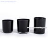 Glossy Black Glass Candle Jar Straight Sided Glass Candle Tumbler
