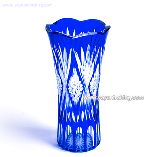 handmade best sell cobalt blue artificial glass vase