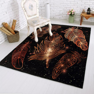 Contemporary Print Bedroom Rug Printed Floor Carpet