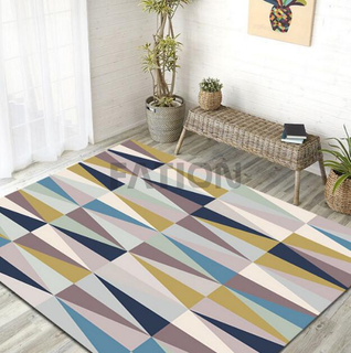 Contemporary Anti-skid Bath Print Rug Indoor Floor Carpet