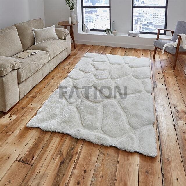 Modern Fluffy White Area Rug Soft Shaggy Carpet