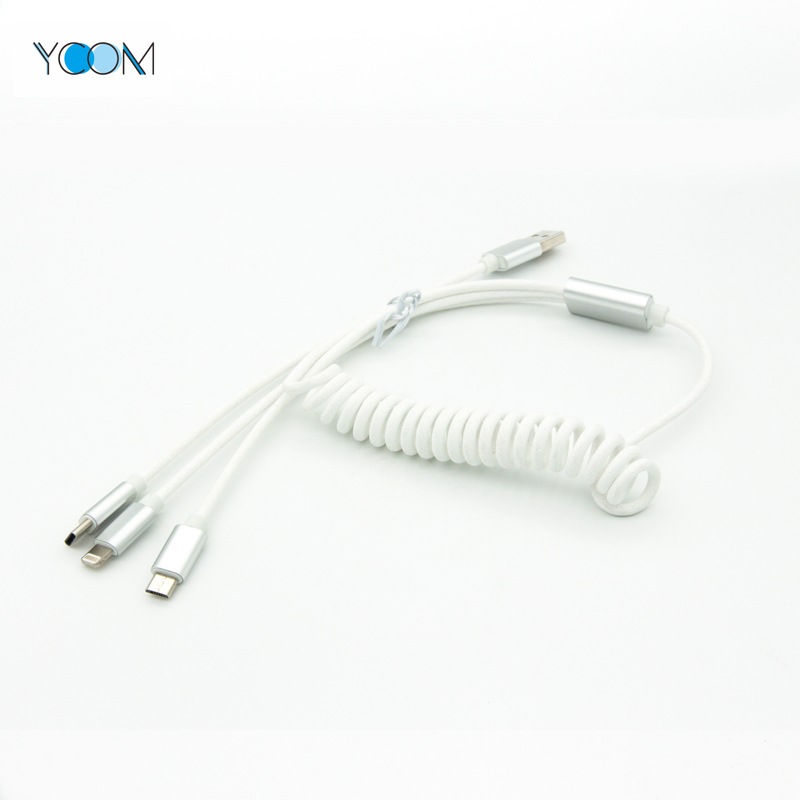 3 in 1 USB Lightning Cable for Micro, Type C