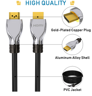 2.0 HDMI Fiber Optic Cable Gold-Plated Copper Plug