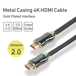 Metal Casing 4K 3D HDMI Cable with Gold Plated Interface