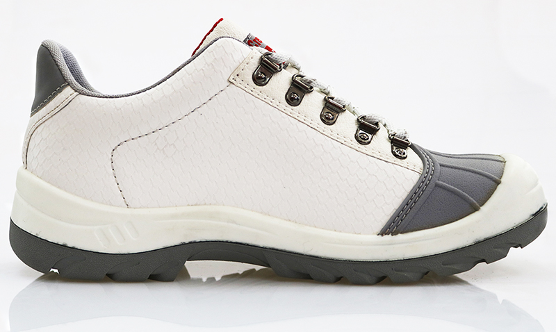 Low ankle food industry steel toe white safety shoes