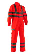 High visibility flame retardant working coverall