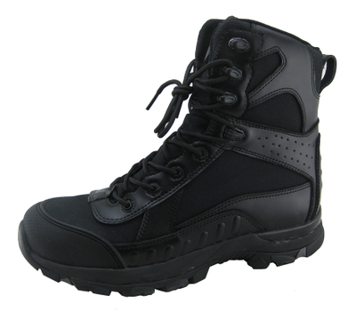 Leather and fabric upper eva rubber sole work safety boots