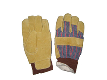 1288 pig grain leather working safety gloves
