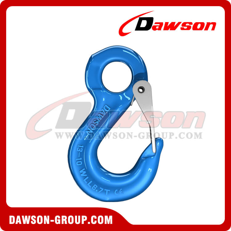 G100 Eye Sling Hook with Latch for Lifting Slings - China Supplier