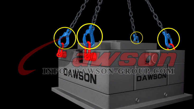 Application of Grade 100 Clevis Sling Hook with Cast Latch, G100 Clevis Hook - Dawson Group - China Supplier