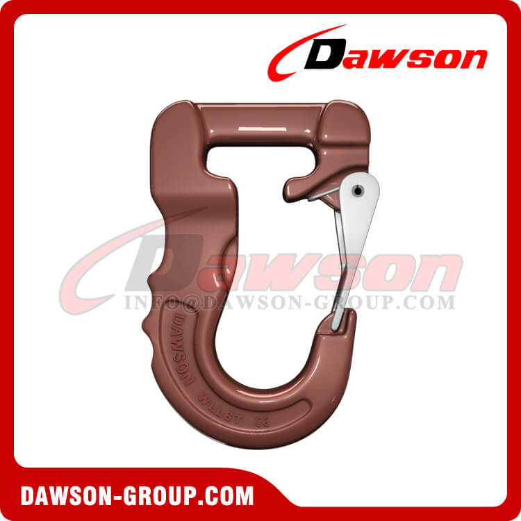Grade 100 Web Sling Hook, G100 Synthetic Alloy Round Sling Hook 6T - Dawson Group Ltd. - China Supplier