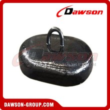 Concrete / Cast Iron Oval Mooring Sinker for Mooring System / Offshore Platform
