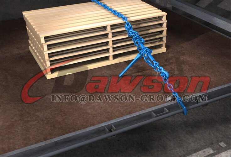 Application of Grade 100 Ratchet Type Load Binder with Safety Hooks - Dawson Group Ltd. - China Factory