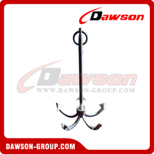 Black Bituminous Paint Marine Boat Anchor / Hot Dip Galvanized Five Claws Marine Anchor