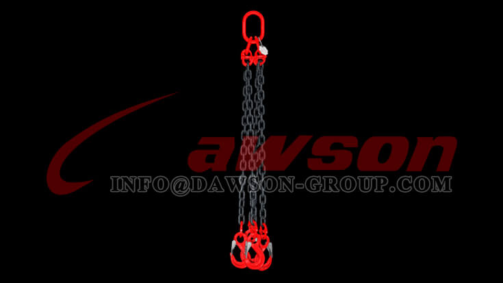 Application of G80 Alloy Steel Eye Sling Hook with Cast Latch for Lifting Chain Slings - Dawson Group Ltd. - China Factory