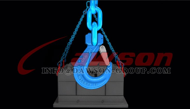 Application of G100 Forged Steel Clevis Sling Hook with Latch - Dawson Group Ltd. - China Supplier