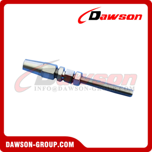 Stainless Steel Wire Rope Swageless Stud Thread Terminal AISI316