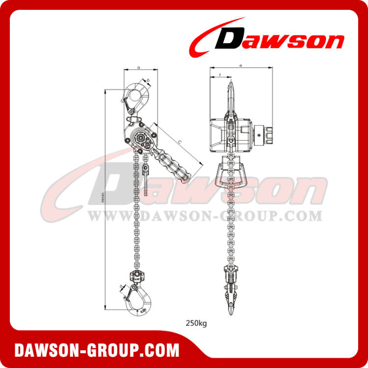 Painting of 250kg Aluminum Alloy Lever Hoist - China Supplier