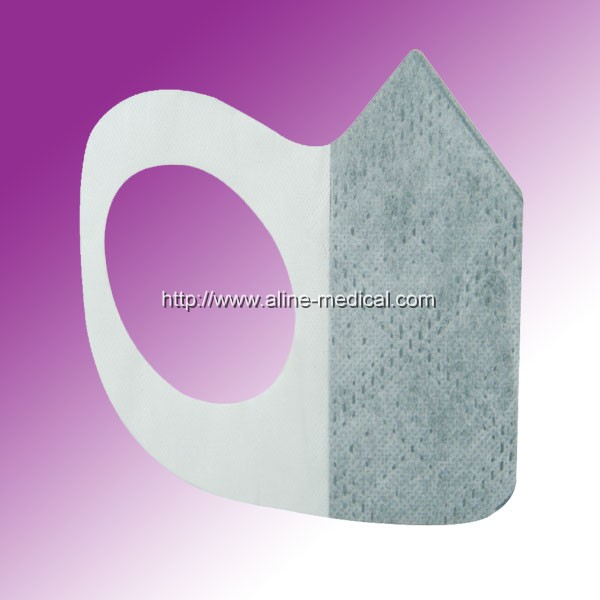 Cone type mask with non-woven elastic loop