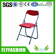 leather visitor folding waiting chair (STC-15)
