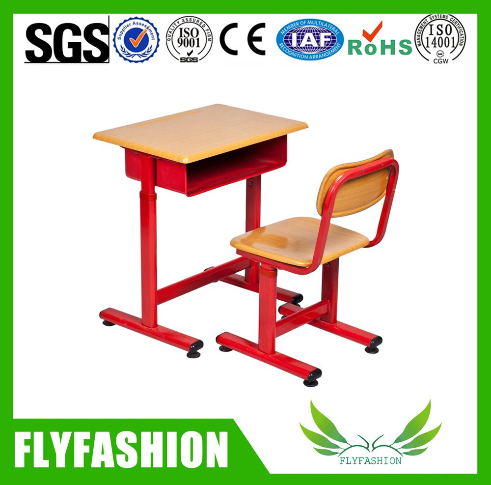 School Furniture High Quality Single School Desk And Chair(SF-81S)