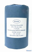"ABSORBENT GAUZE ROLL 36""X100YDS (4 PLY, 19 X 15)"
