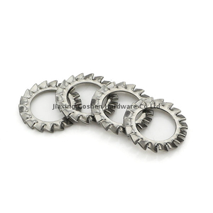 metric din6798 stainless steel external toothed lock washers