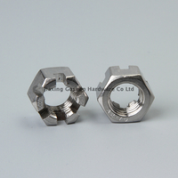 m14 stainless steel heavy hex self locking castle nut