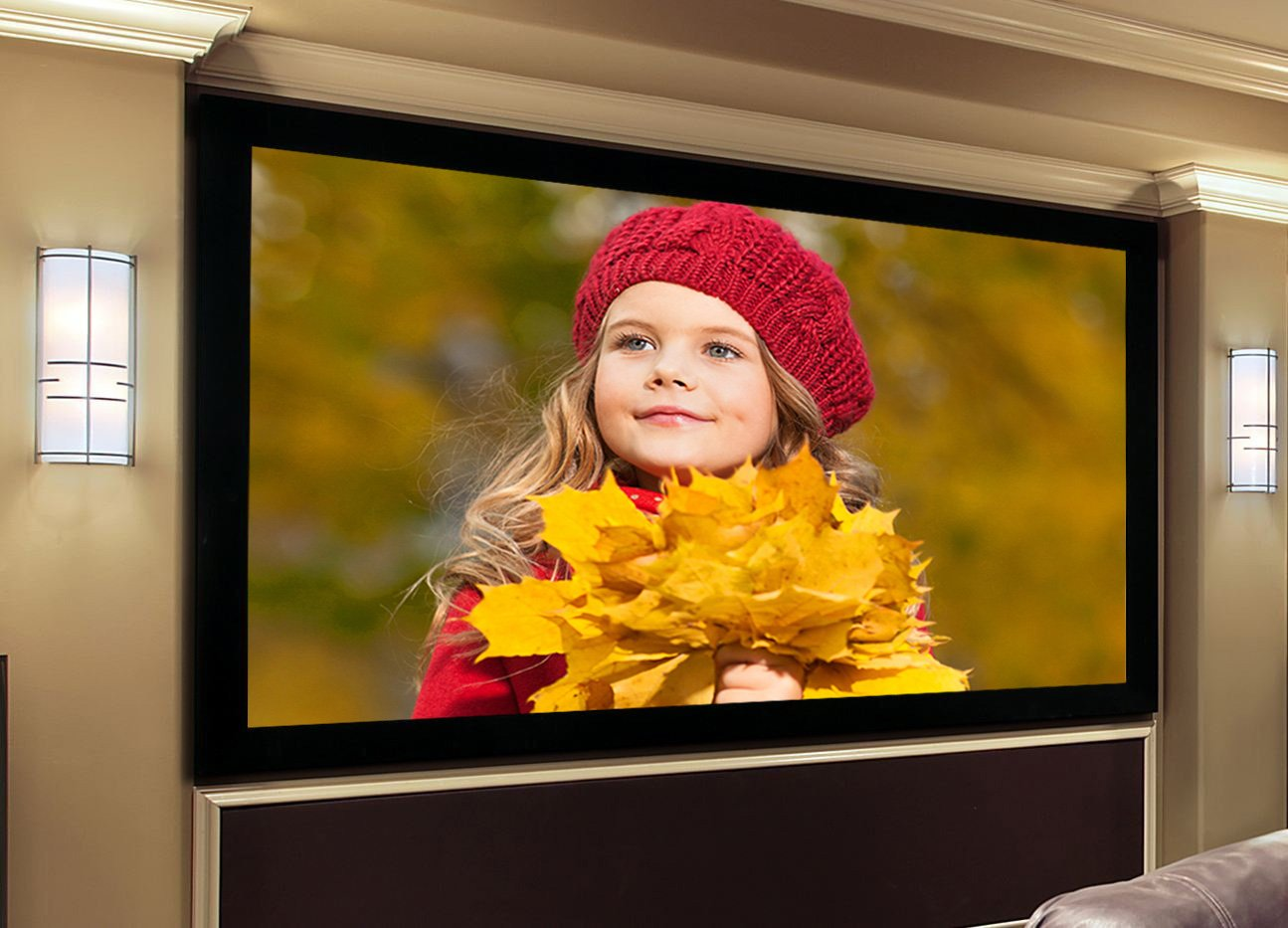 Wall Mounted Fixed Frame Projection Screen Matte White