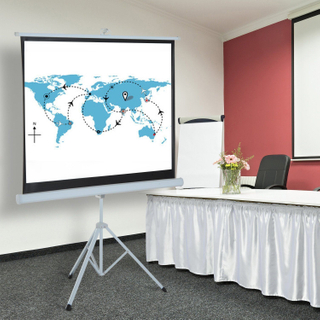 Portable Tripod Projection Screen Pull Up Projector Screen