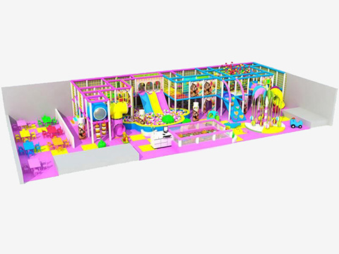 Candy theme Kids Indoor Playground Case in Iraq