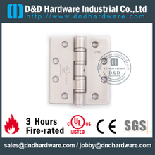 Stainless Steel Grade 304 Four Ball Bearing Fire Rated Door Hinge Certified by UL for Heavy Steel Door-DDSS45446