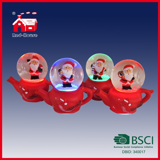 Polyresin Decorative Snowman Snow Globes Wholesale Christmas Water Globe