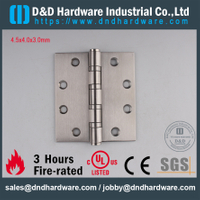 "4.5"" UL Listed Ironmongery 4BB Fire Rated Door Hinge for Wooden Door-DDSS003-FR"