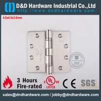 SUS316 Alta Qualidade UL Listed Fire Rated Dobradiça Do Rolamento De Esferas para Porta Externa-DDSS002-FR-4.5x4.5x3.0mm