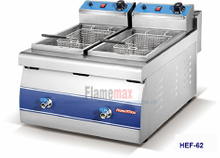 HEF-62 2-tank 2-basket electric fryer
