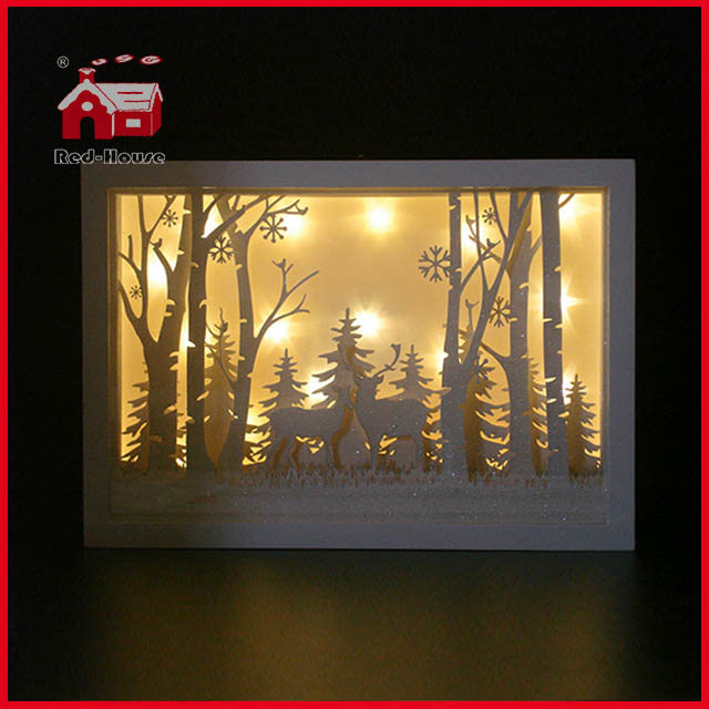 How To Decorate A Shadow Box Inspiration Glass Frame Forest Scene Glass Decoration With Plastic Frame Shadow
