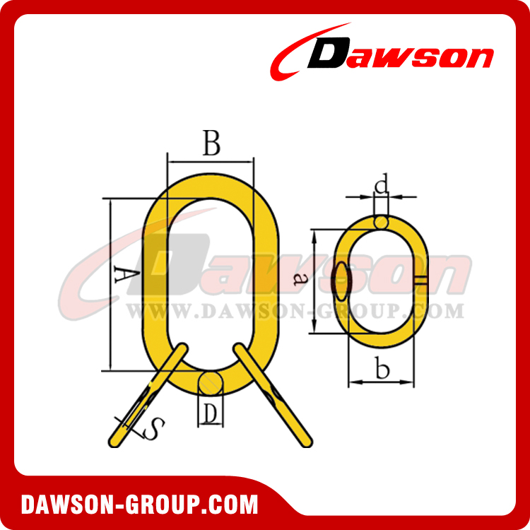 DS032 G80 European Type Master Link Assembly for Wire Roe Lifting Slings