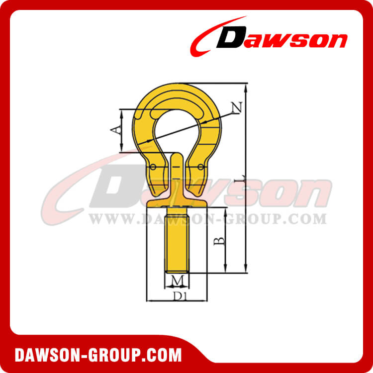 DS292 G80 LIFTING EYE SCREW WITH OMEGA LINK DAWSON-GROUP