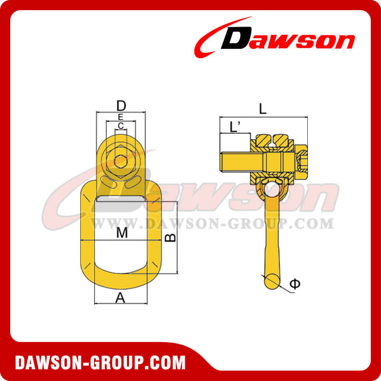 DS173 G80 PIVOTING LIFTING SCREW DAWSON-GROUP
